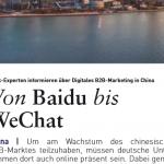 bvik-Fachartikel B2B-Kommunikation in China