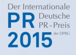 Logo Internationaler deutscher PR-Preis 2015 der DPRG