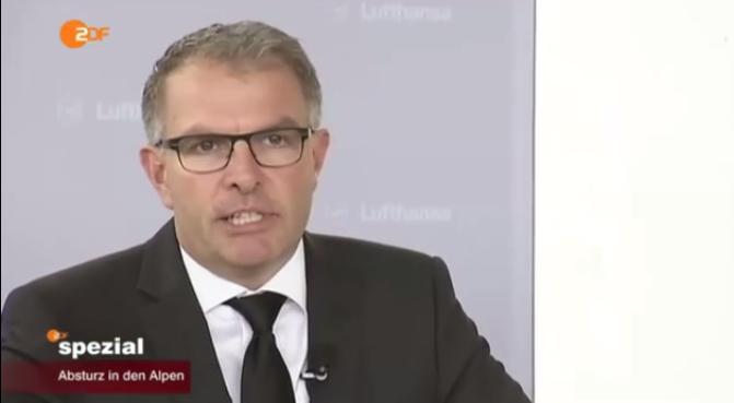 Lufthansa-Chef Carsten Spohr. Quelle: ZDF; YouTube