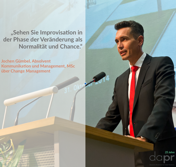 "Jochen Gümbel, MSc in ""Kommunikation und Management"""