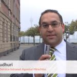 """Screenshot aus einem Video mit Oliver Chaudhuri, Dozent des DAPR pro-Seminars """"Social Intranet"""""""