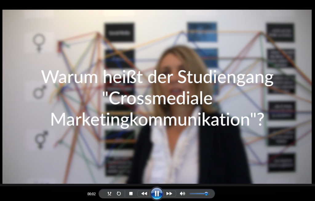 "Screenshot aus einem Video mit Dr. Silvia Ettl-Huber, wiss. Leiterin ""Crossmediale Marketingkommunikation (MA)"""