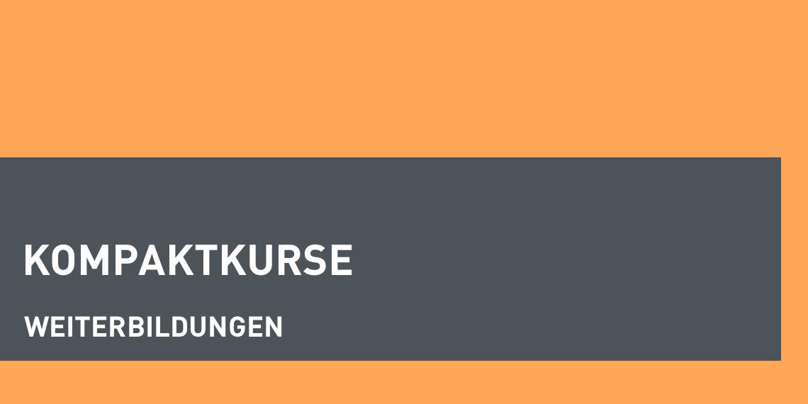 dapr-Kopaktkurse: 5 Tage, 1 Thema, verschiedenen Dozent/innen. Kommunikation, PR, Management. (Header-Bild)