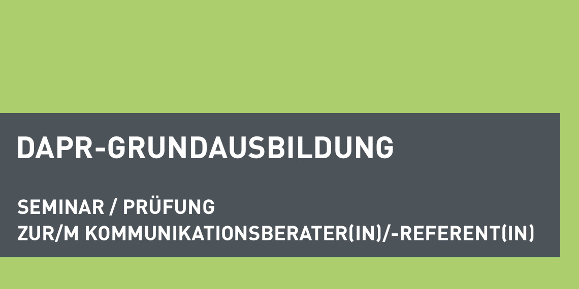 dapr-Grundausbildung Kommunikationsberater*in/-referent*in (Header-Bild)