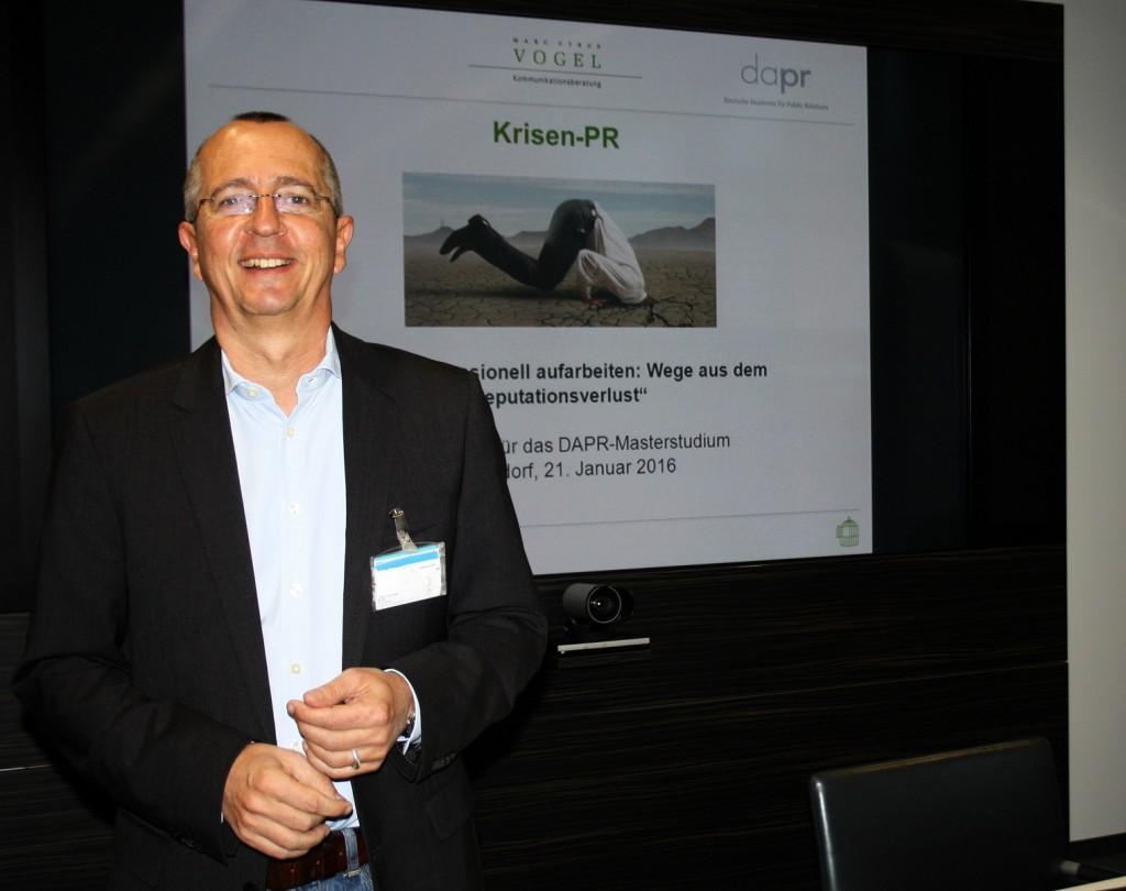 DAPR-Dozent Marc Cyrus Vogel