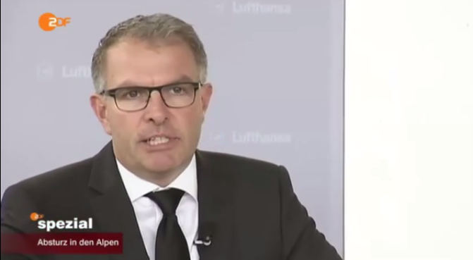 Lufthansa-Chef Carsten Spohr. Quelle: ZDF; YouTube