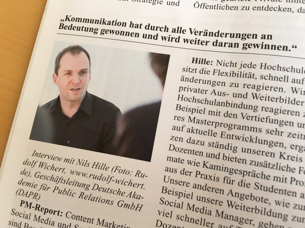 Nils Hille im PM-Report