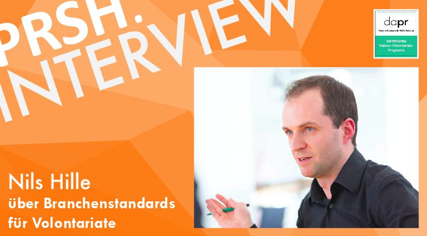 DAPR-Zertifizierung: Interview mit Nils Hille auf www.prsh.de