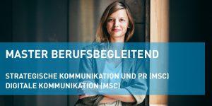"""Berufsbegleitende Masterlehrgänge """"Strategische Kommunikation und PR"""" und """"Digitale Kommunikation"""" (Header-Bild)"""