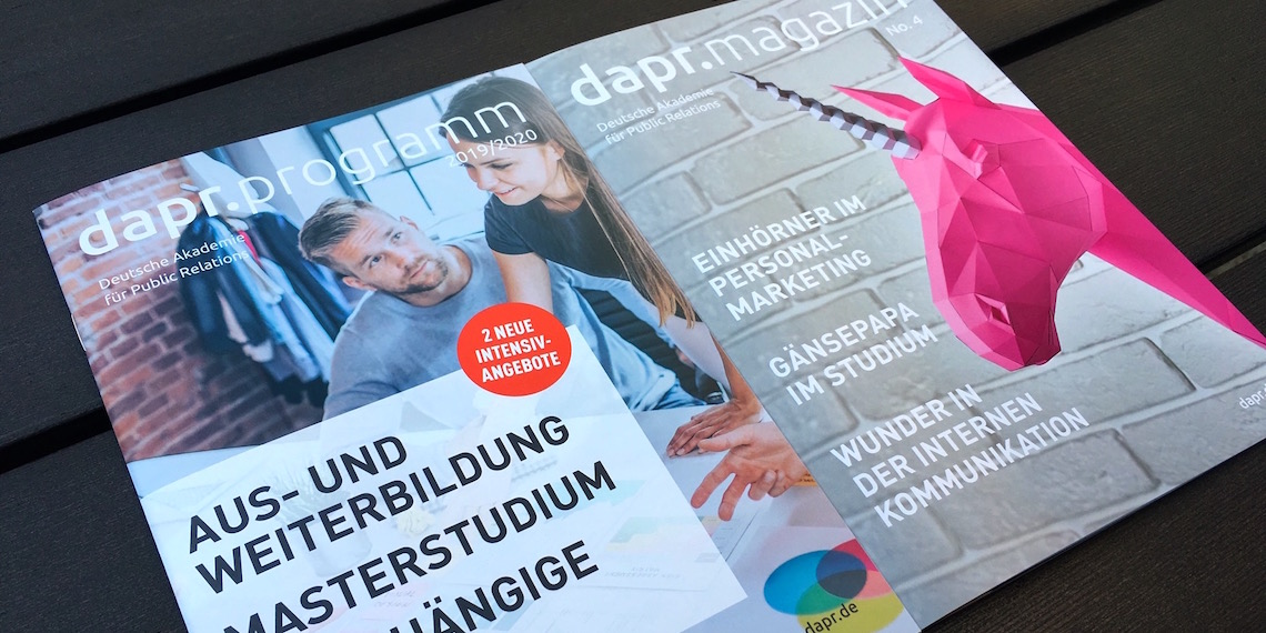 dapr.programm | dapr.magazin (April 2019): Cover-Bilder
