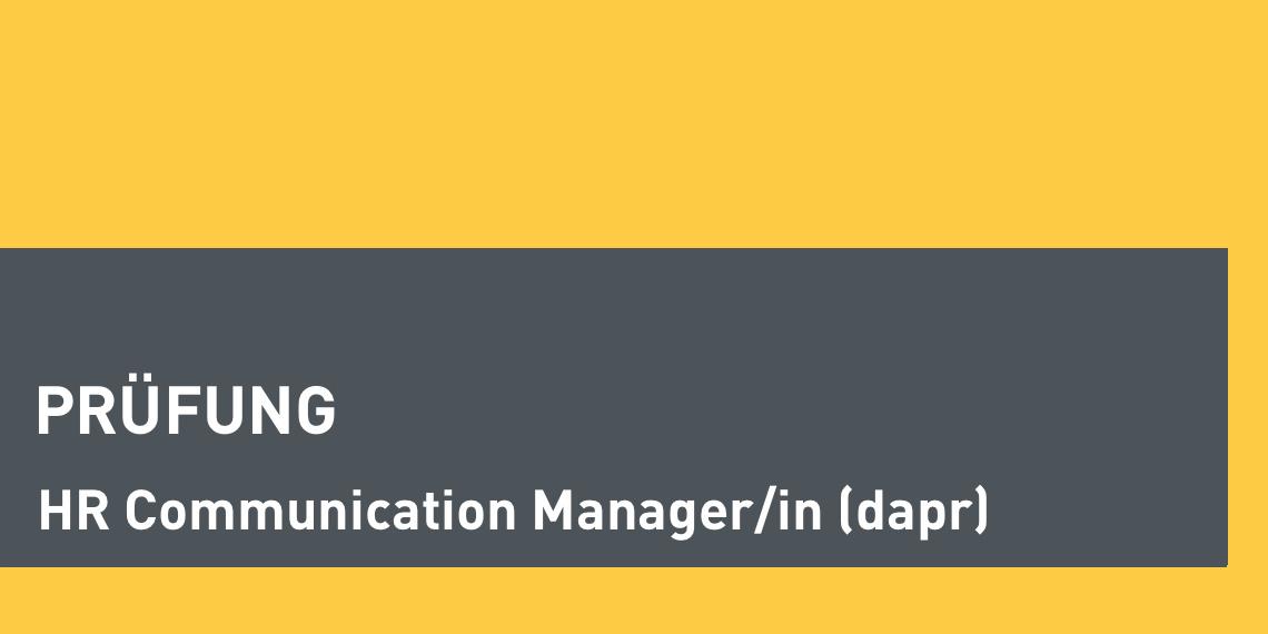 dapr-Prüfung zum HR Communication Manager (Header-Bild)