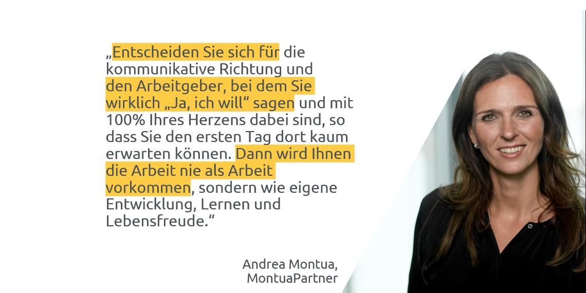 #daprzertifiziert - Tipps zum Berufseinstieg von Andrea Montua, MontuaPartner Communications