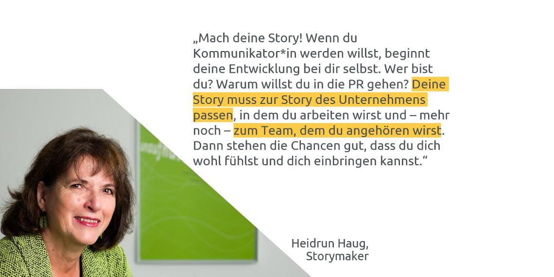 #daprzertifiziert - Tipps zum Berufseinstieg von Heidrun Haug, Storymaker