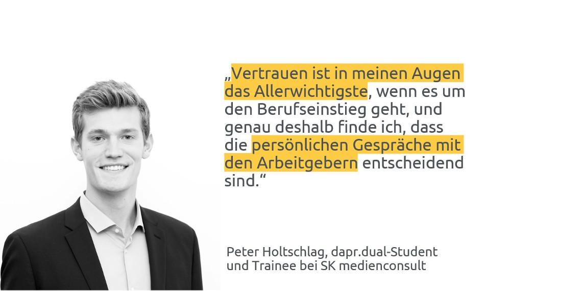 #daprzertifiziert - Tipps zum Berufseinstieg von Peter Holtschlag, SK Medienconsult