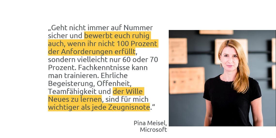 #daprzertifiziert - Tipps zum Berufseinstieg von Pina Meisel, Microsoft Deutschland