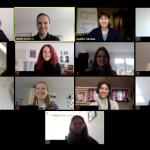 Virtueller Start des Masterjahrgangs 2020 bei der dapr: Screenshot von Modul 1 als Online-Seminar