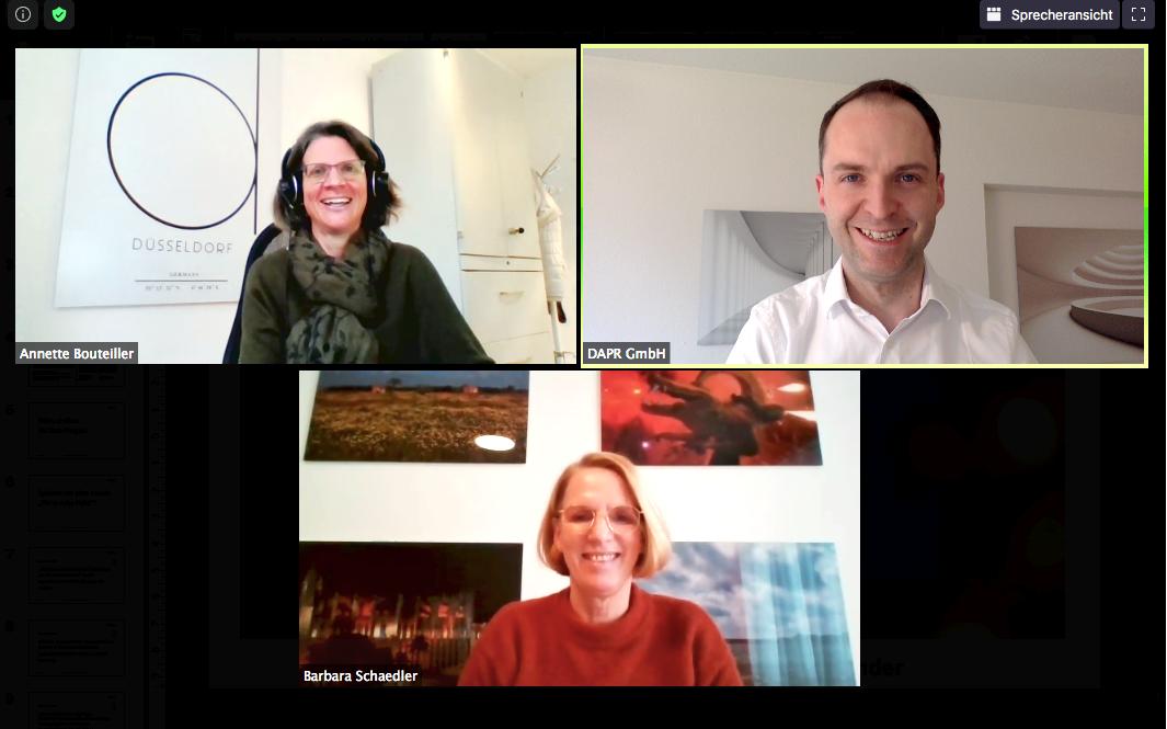 #askmeanything: Barbara Schädler, Leiterin Group Communications Roche, war zu Gast im Mittags-Talk der dapr