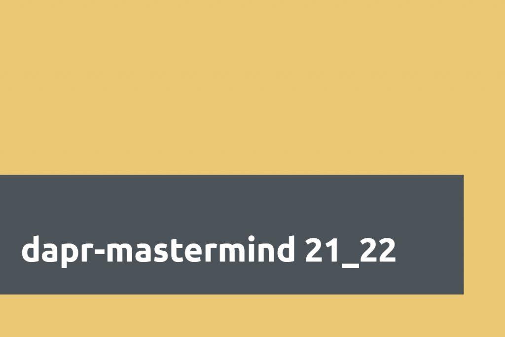 dapr-mastermind 21_22 Header-Bild
